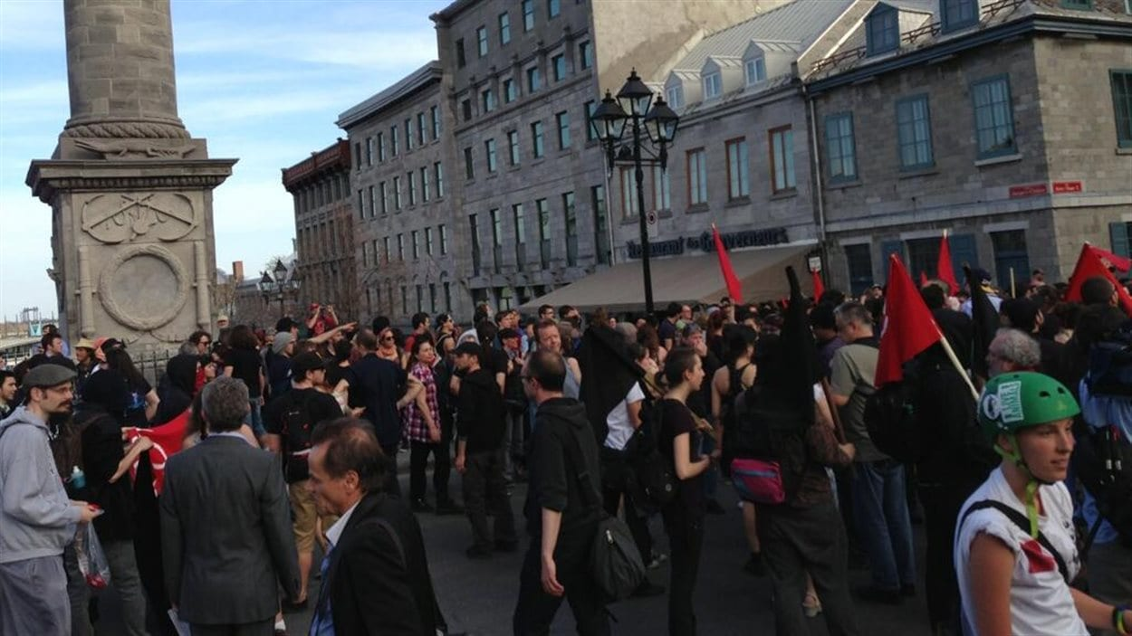 Manifestation du 1er mai à Montréal