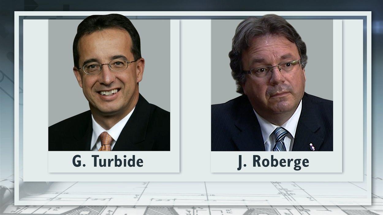 Le directeur général de la Ville de Laval Gaétan Turbide, et le directeur général adjoint, Jean Roberge.