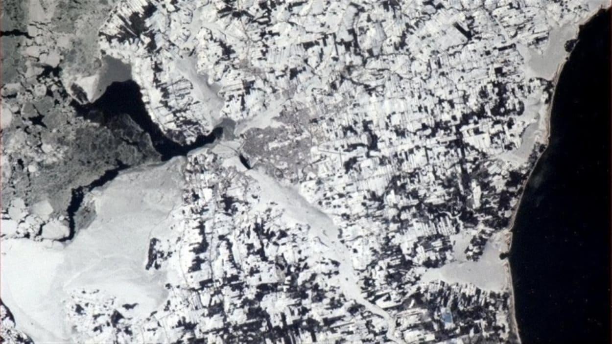 La ville de Charlottetown, à l'Île-du-Prince-Édouard, le 10 janvier