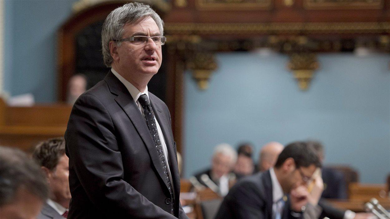 Jean-Marc Fournier, chef de l'opposition officielle, à l'Assemblée nationale