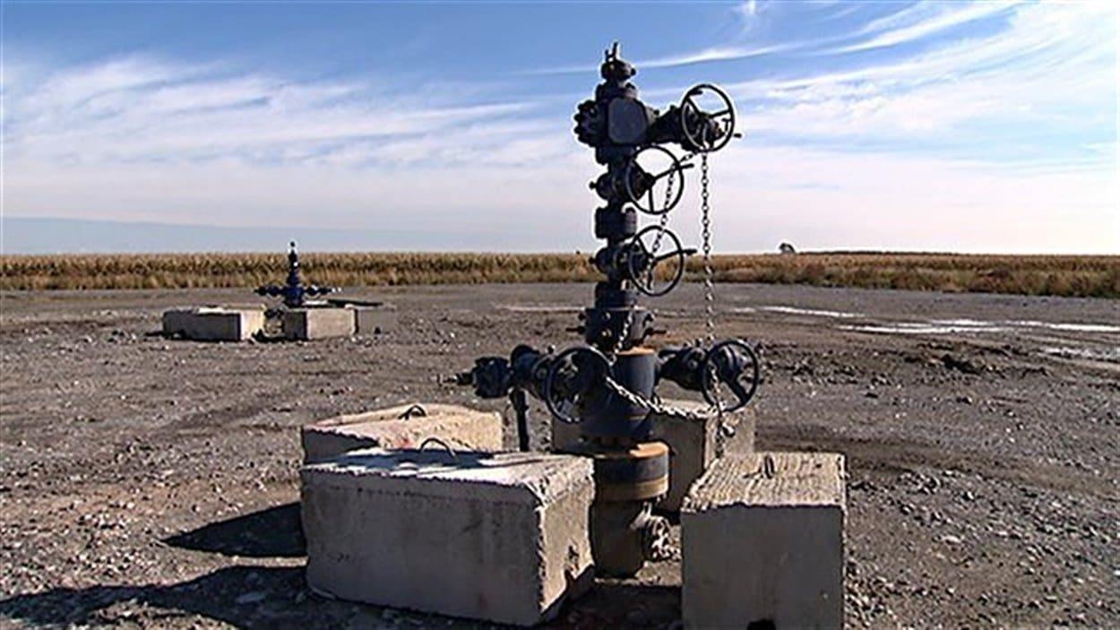 Un puit de gaz de schiste