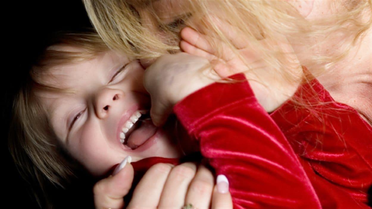 Un garçon et sa mère