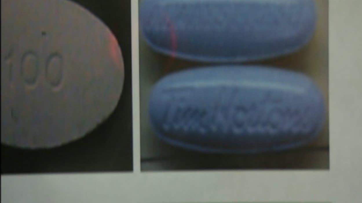 Les comprimés de drogue de synthèse sont frappés de logos de marques connues.