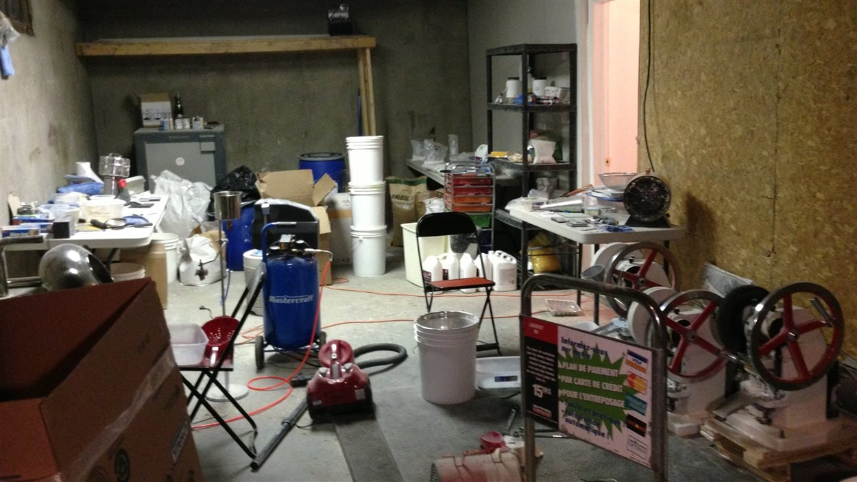 Le laboratoire de production de drogue de synthèse.