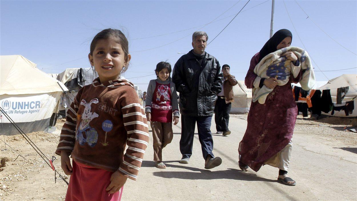 Camp de réfugiés de Zaatari près de la frontière syrienne