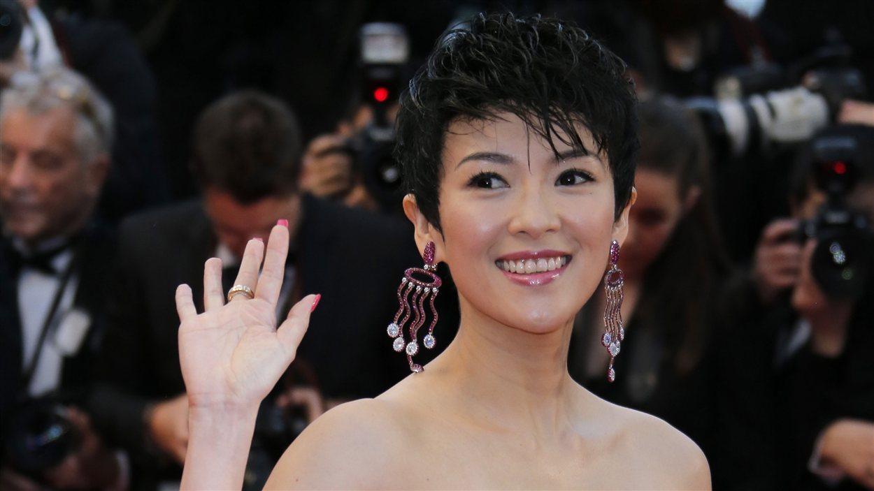 Zhang Zihi sur le tapis rouge de la première cannoise de Gatsby le magnifique