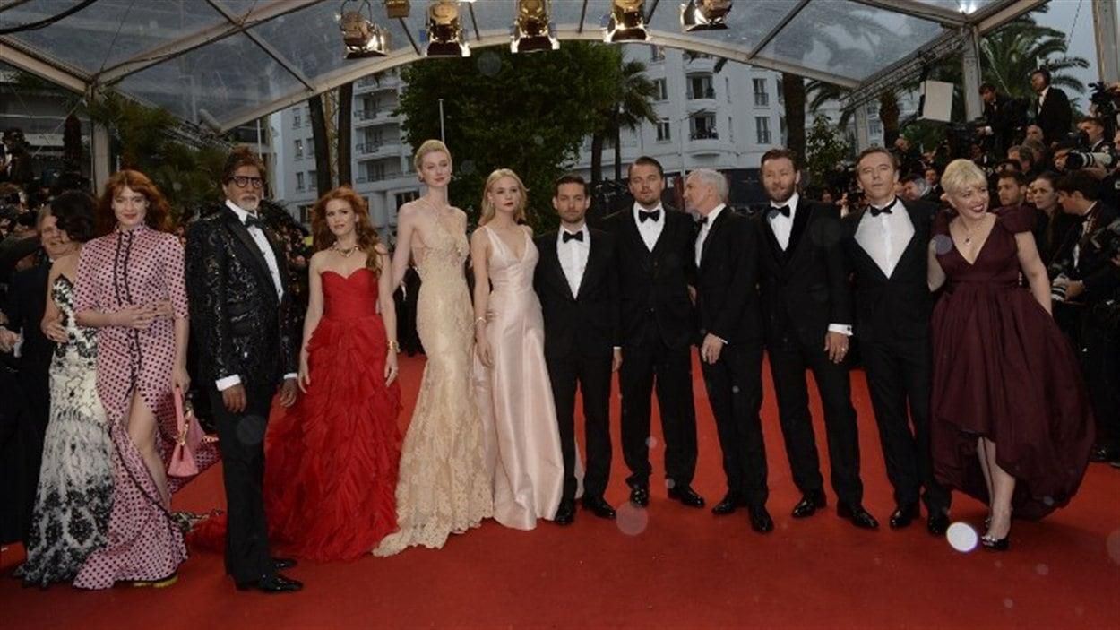 La distribution de Gatsby le magnifique sur le tapis rouge cannois