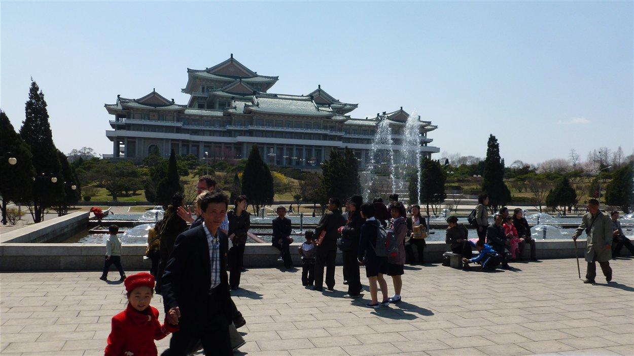 La grande bibliothèque de Pyongyang