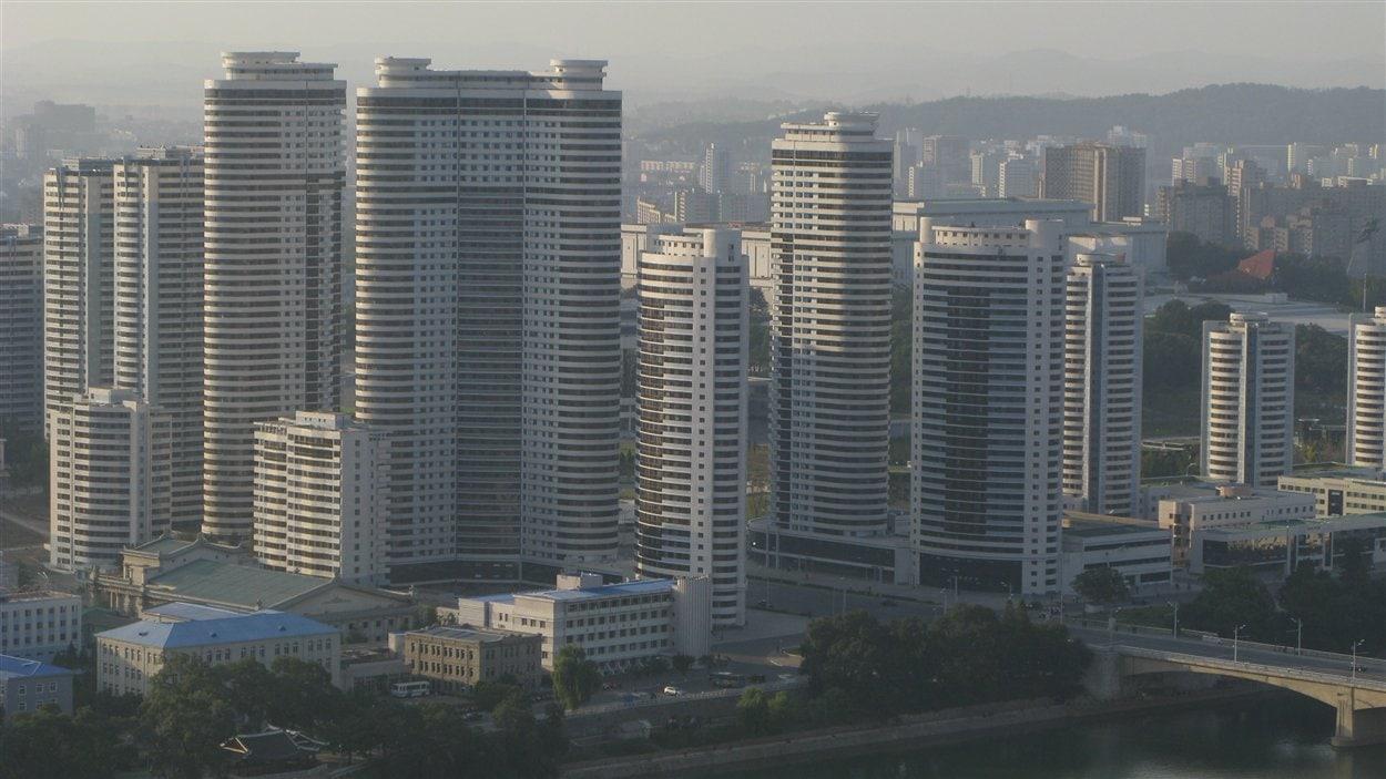 Le centre-ville de Pyongyang