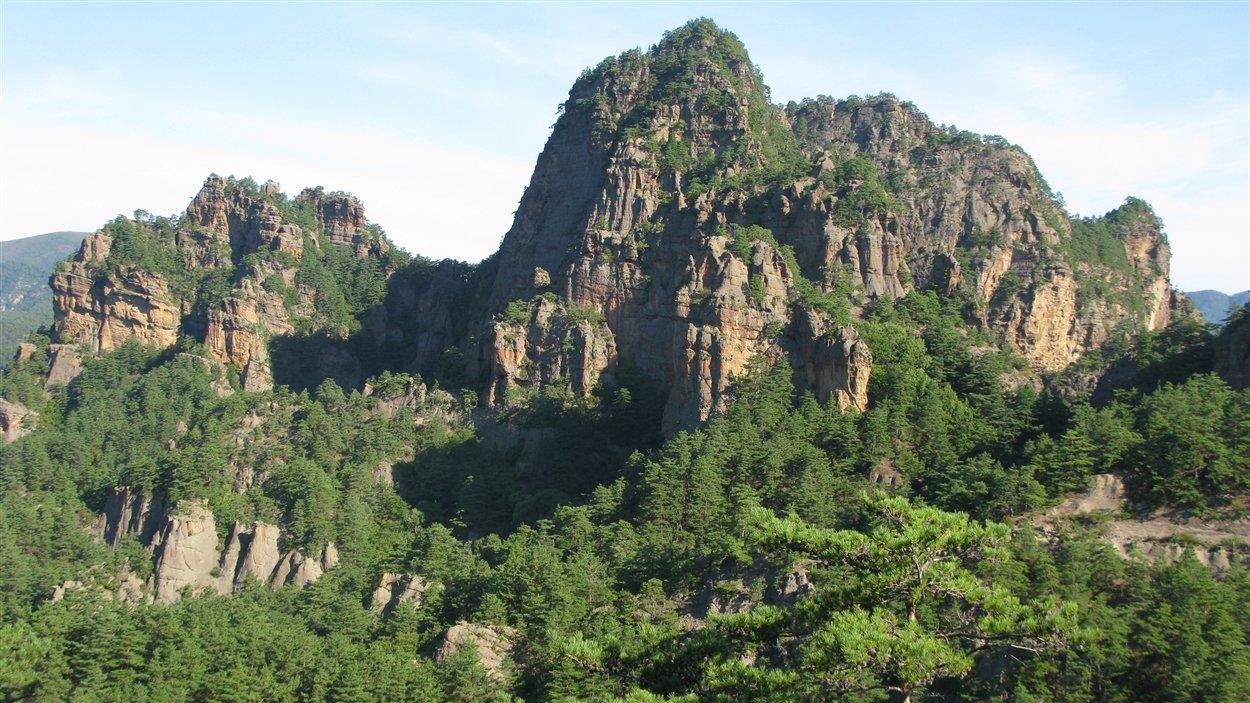 Les montagnes de Chilbo en Corée du Nord