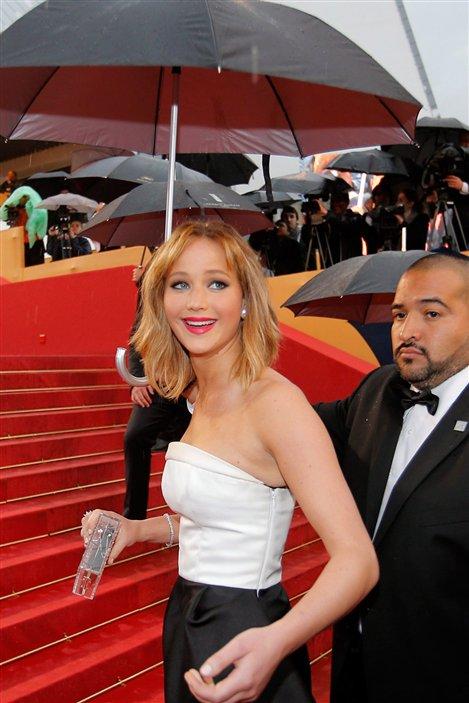 L'actrice Jennifer Lawrence sur le tapis rouge pour le film <em>Jimmy P.</em>