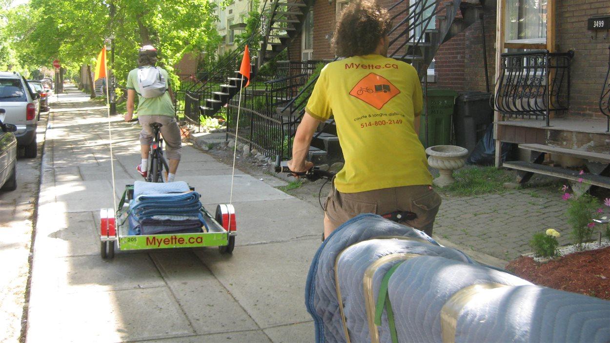 Déménagement à vélo