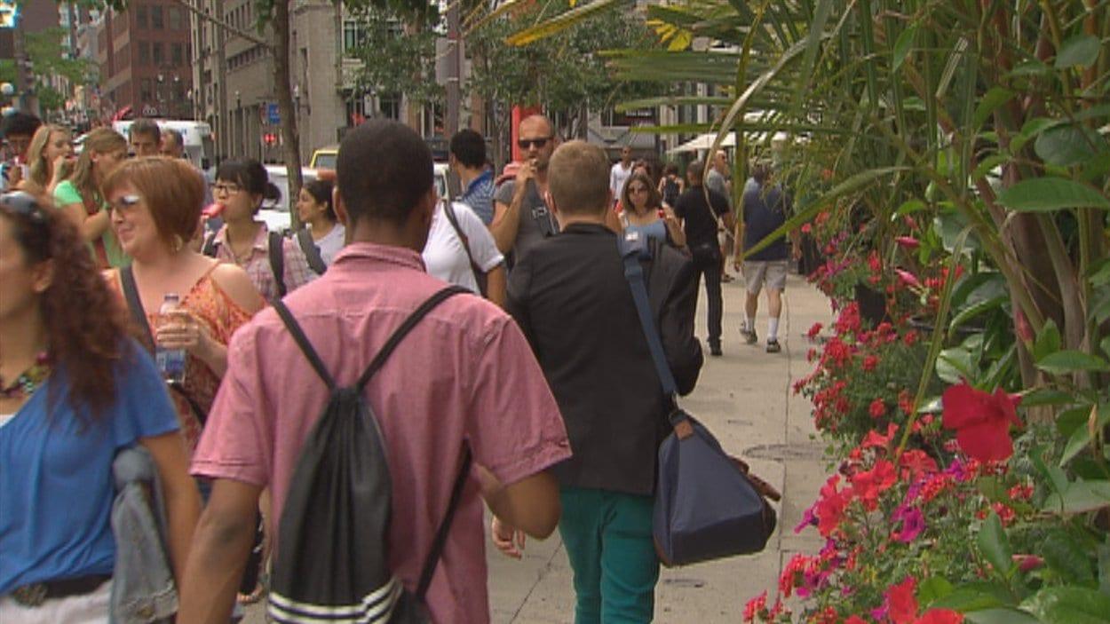 Touristes dans la ville de Québec