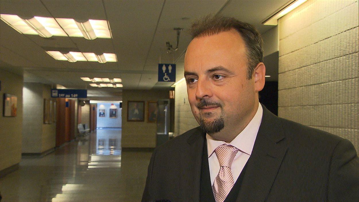 Me David Bourgouin, ci-haut, représente Jean-René Jasmin, qui formule une demande de recours collectif contre la Société des alcools du Québec.