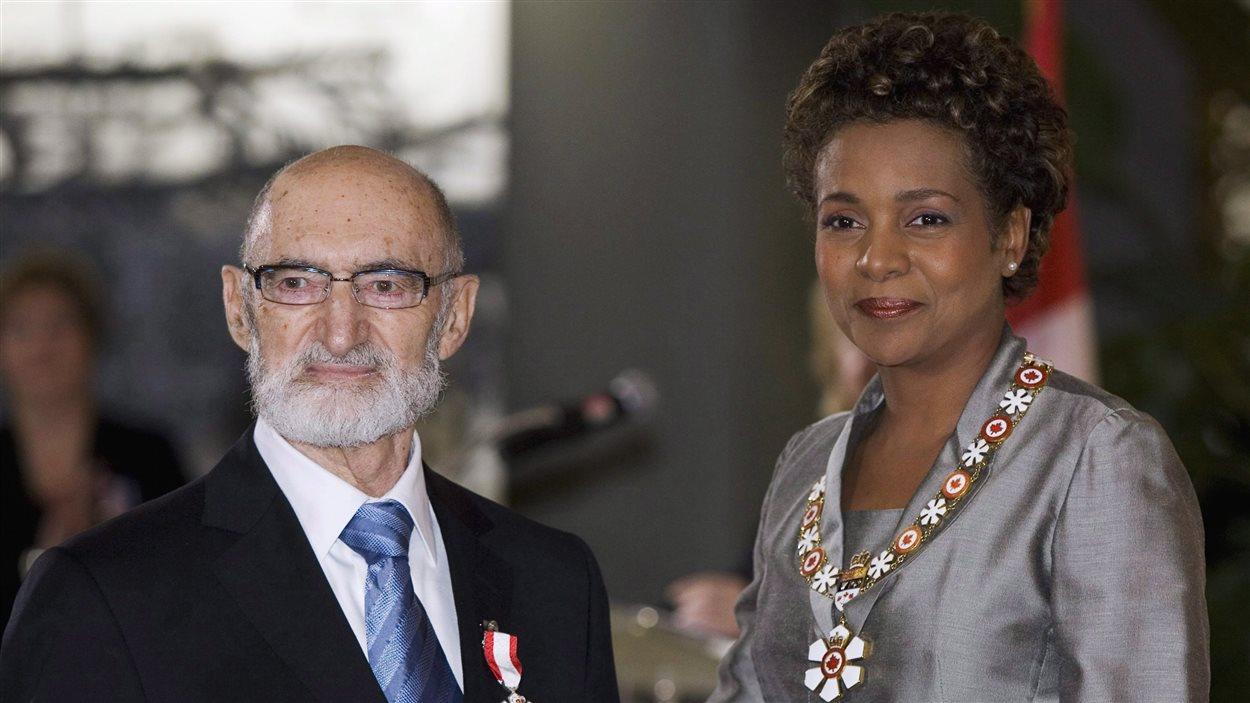 Henry Morgentaler avec Michaëlle Jean