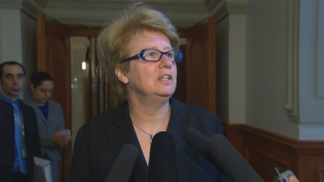 La ministre Agnès Maltais