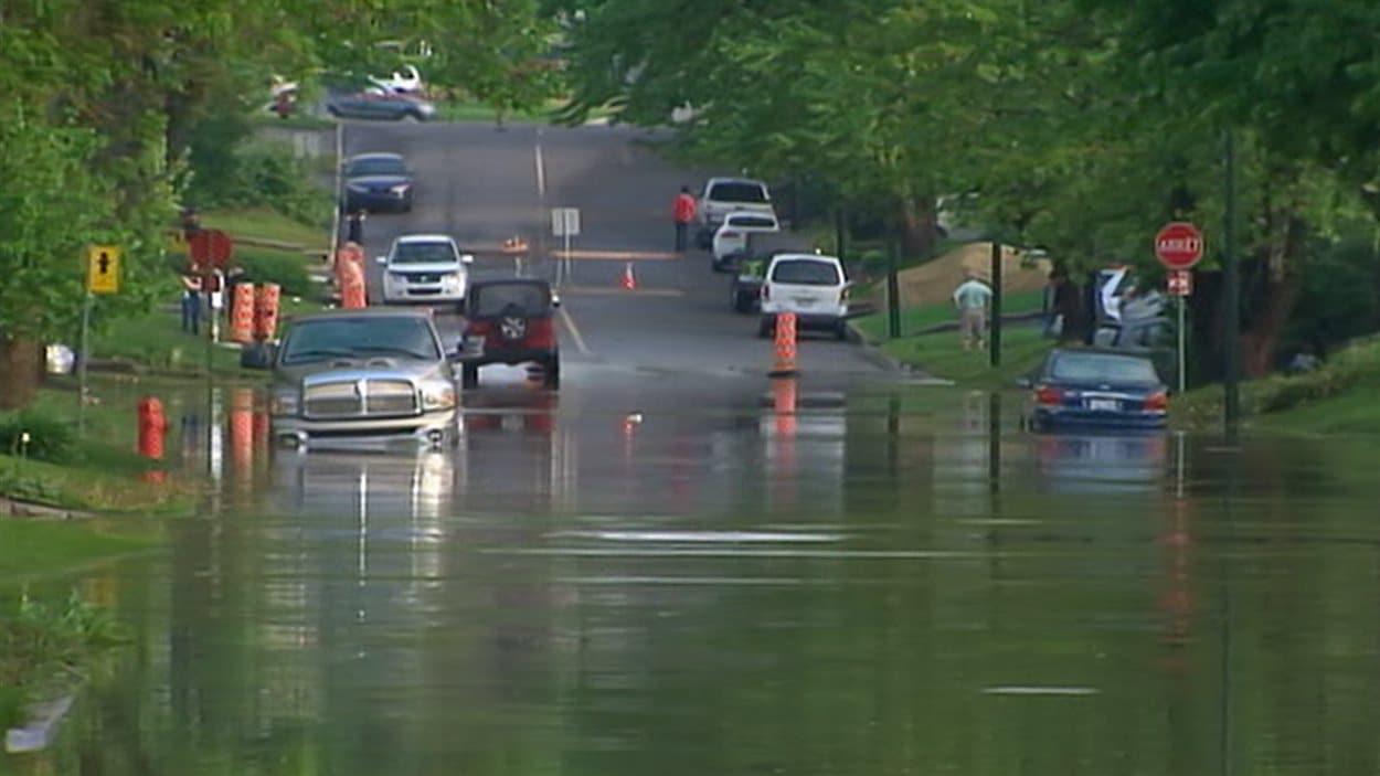 Certains secteurs de L'Ancienne-Lorette ont été inondés.