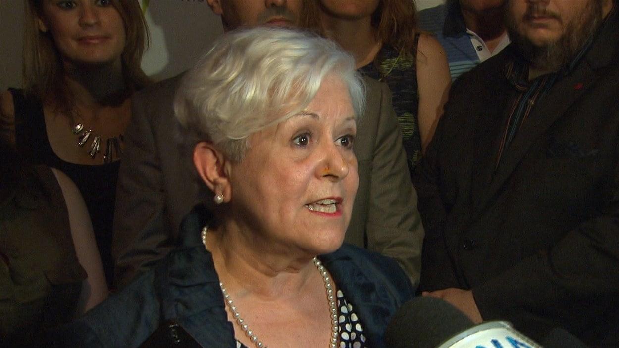 La chef de Vision Montréal, Louise Harel, le 1er juin