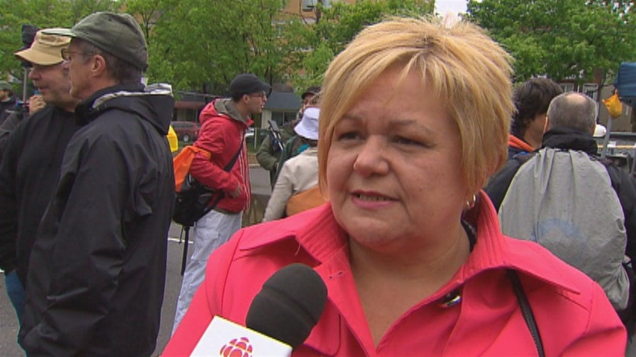 La conseillère municipale Suzanne Verreault
