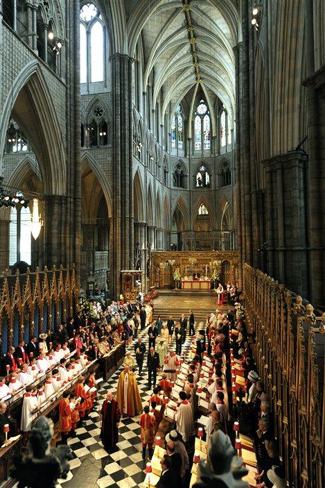 L'abbaye de Westminster, à Londres.