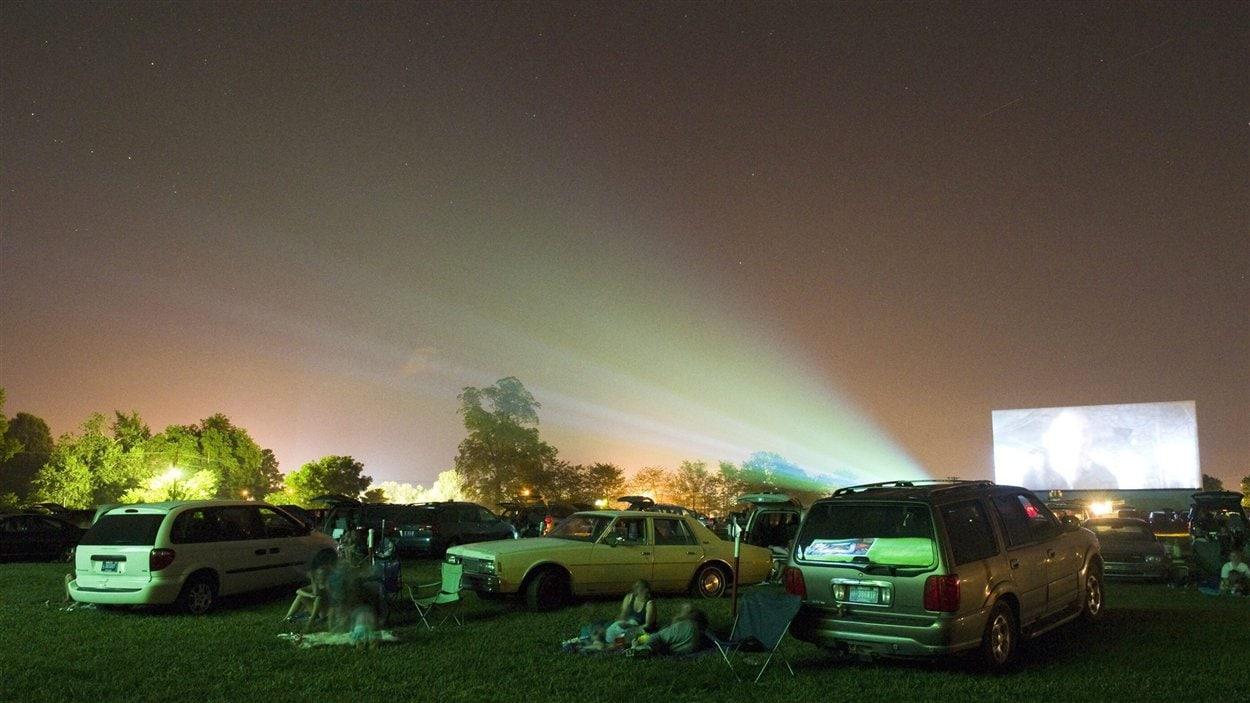 Un ciné-parc en Indiana, aux États-Unis.