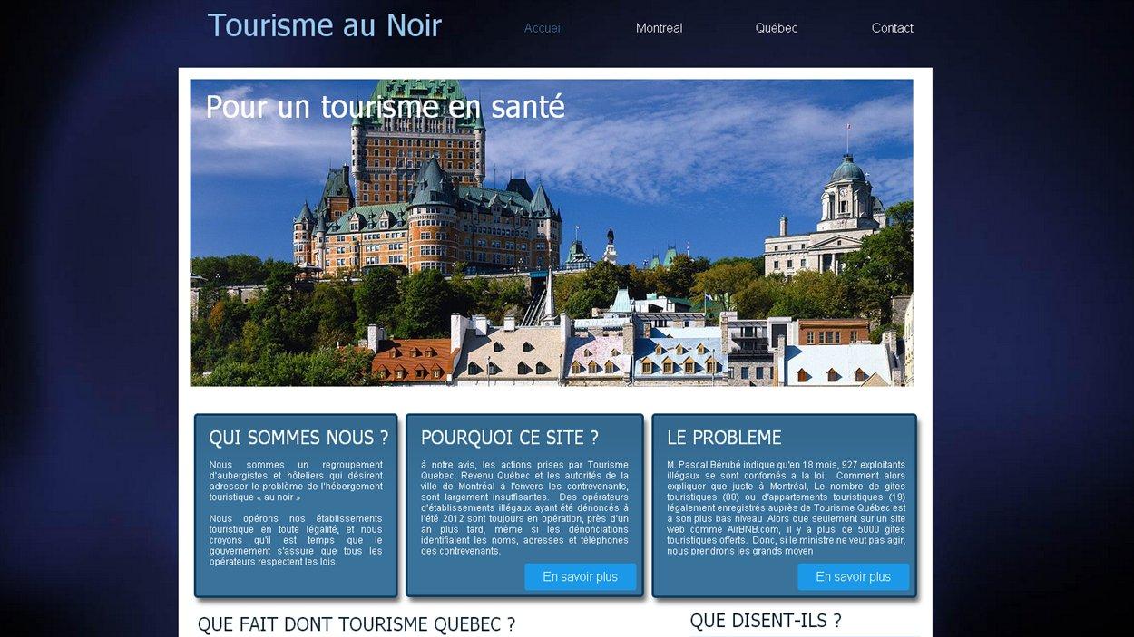 Page d'accueil du site Internet tourismeaunoir.com