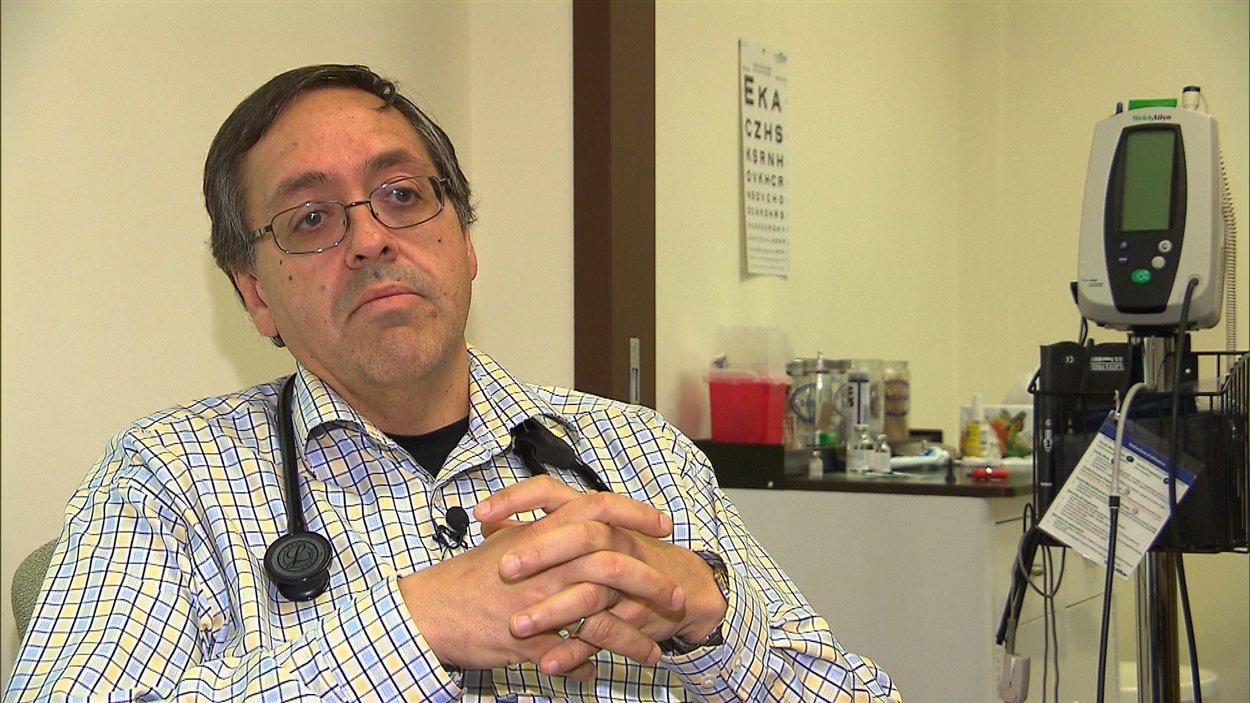 Pierre Martin, médecin de famille, président de la Fédération des médecins omnipraticiens du Québec pour la région de la Mauricie
