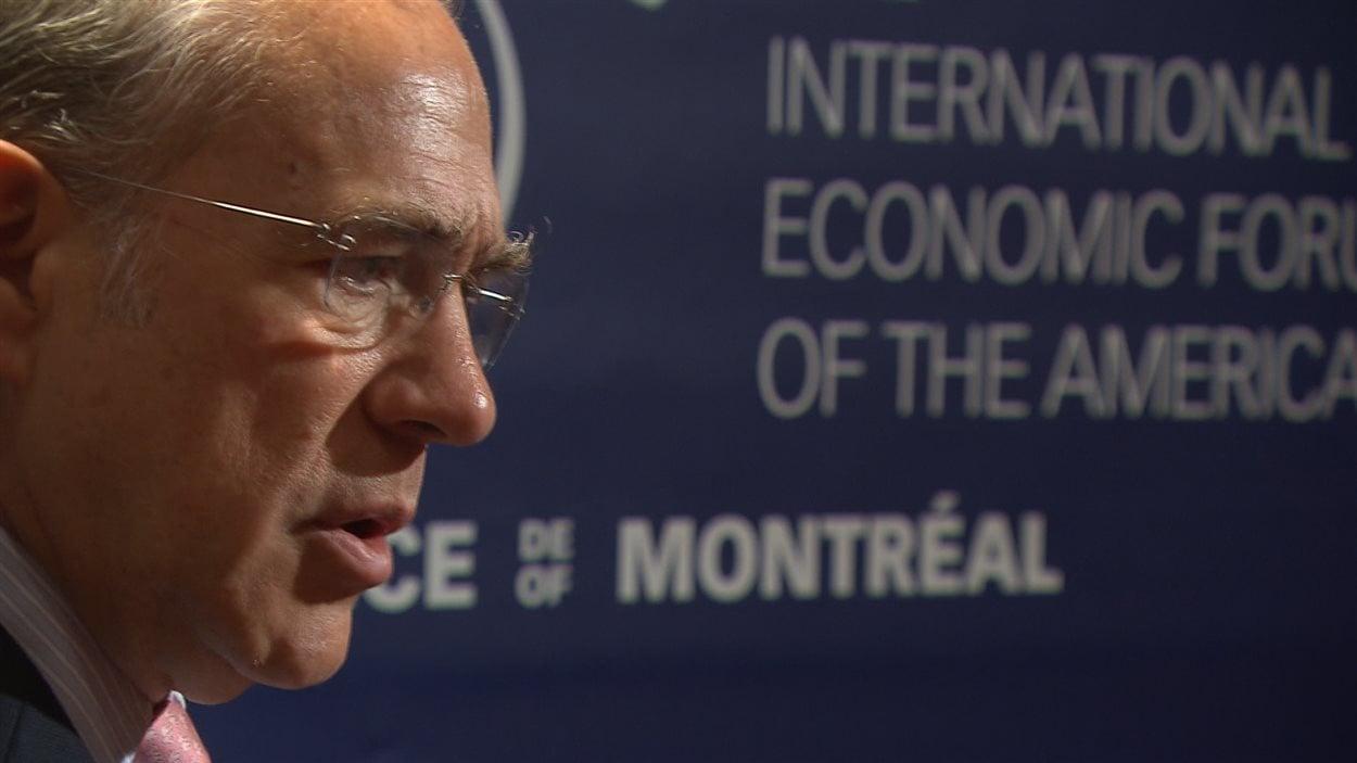 Angel Gurria, secrétaire général de l'OCDE.