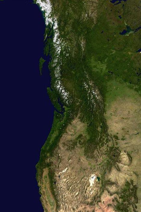 Une image satellite de la région de Vancouver