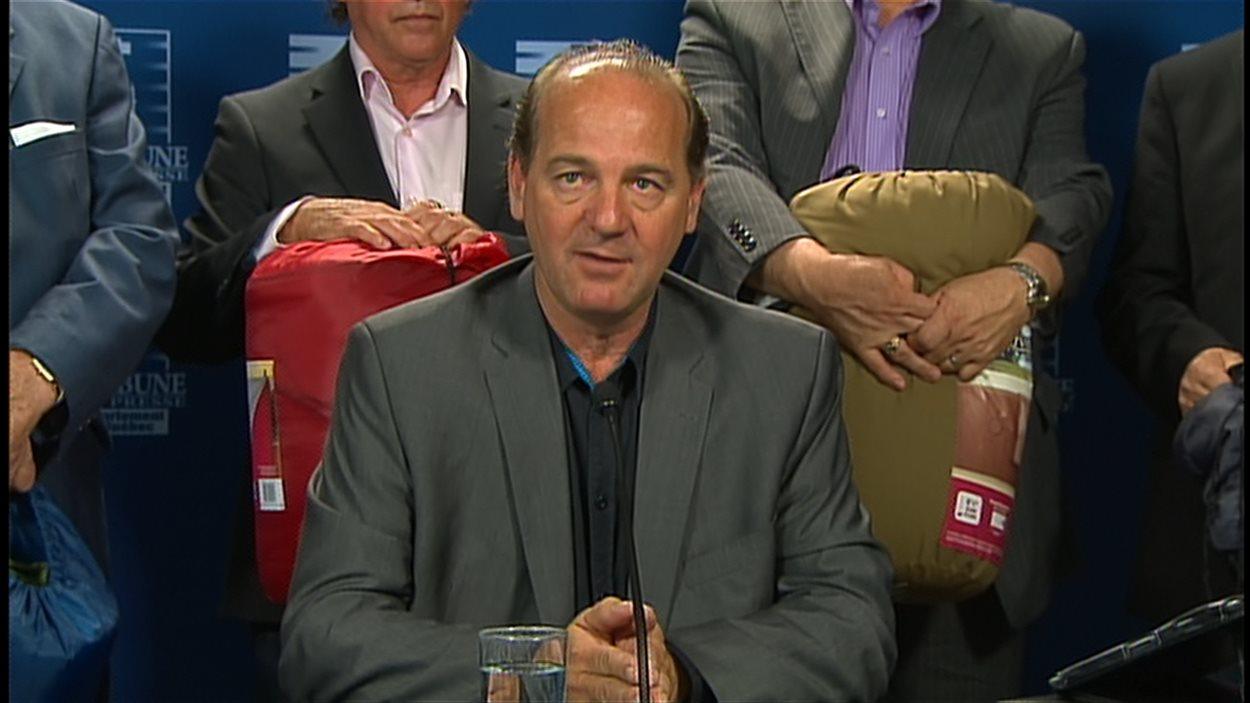 Yves Ouellet, porte-parole de l'Alliance syndicale