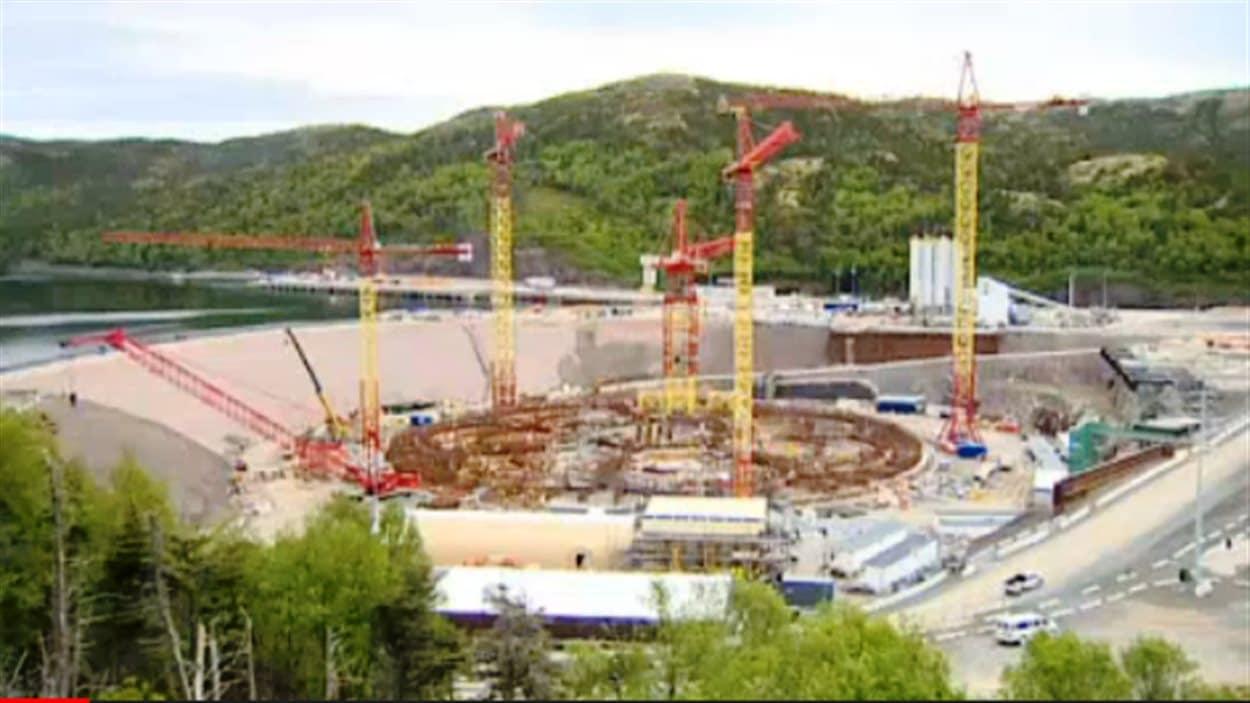 Le chantier de la plate-forme Hebron à Terre-Neuve