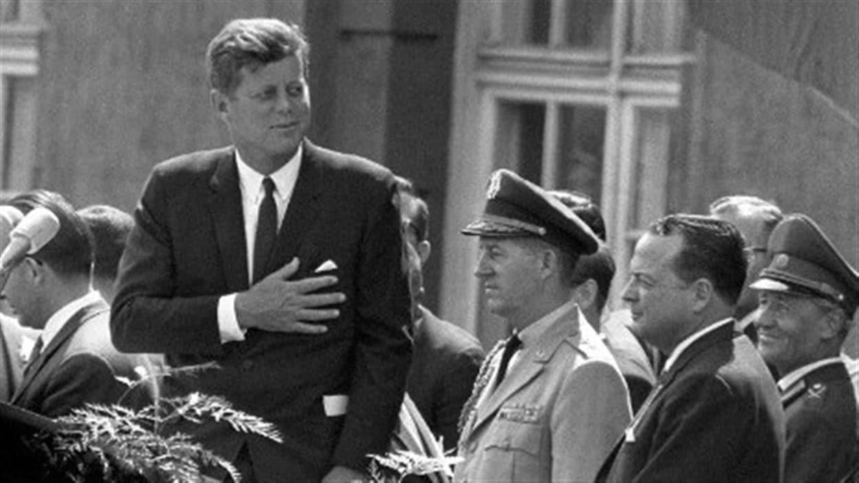 Le président américain John F. Kennedy, lors de sa célèbre visite à Berlin, en 1963.