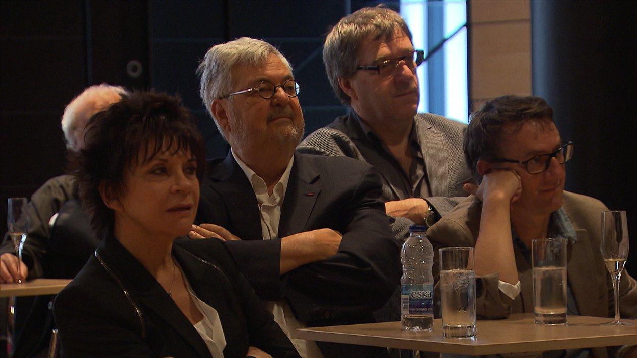 Camille Goodwin, Michel Tremblay et René Richard Cyr étaient présents à la cérémonie