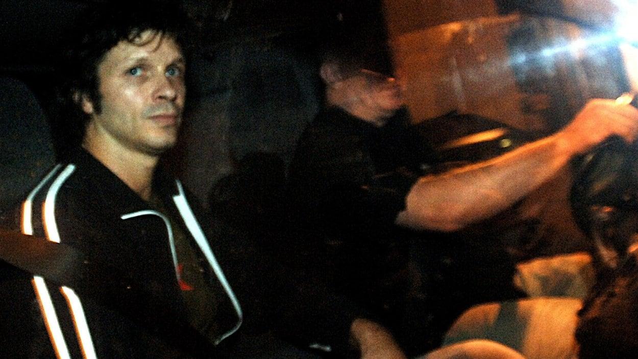 Bertrand Cantat, lors de sa libération en 2007.