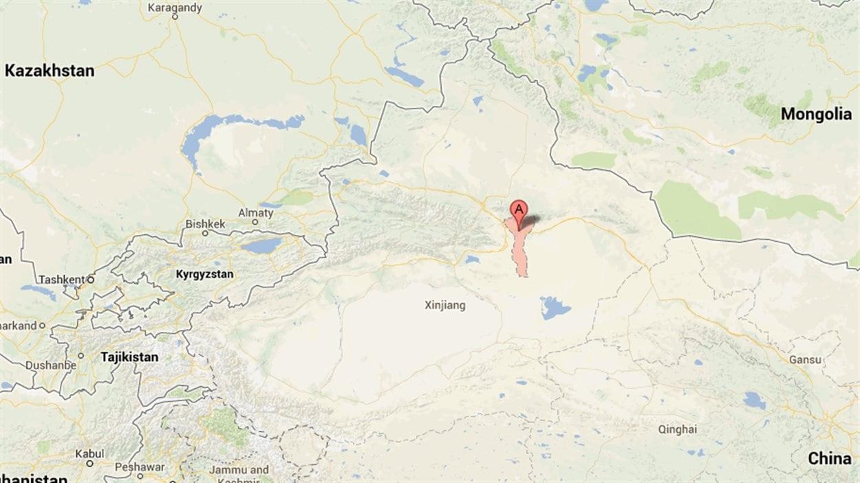 La province du Xinjiang, en Chine