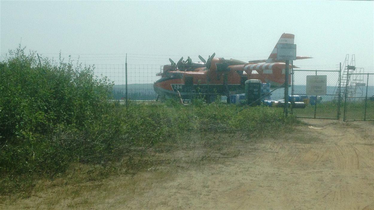 Un avion-citerne à Wabush