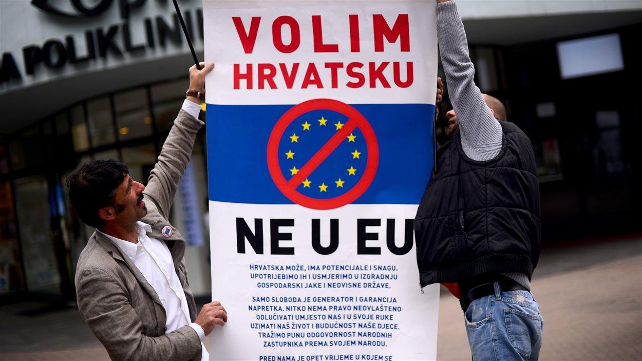 Les Croates ne sont pas tous heureux de faire leur entrée dans l'Union européenne.