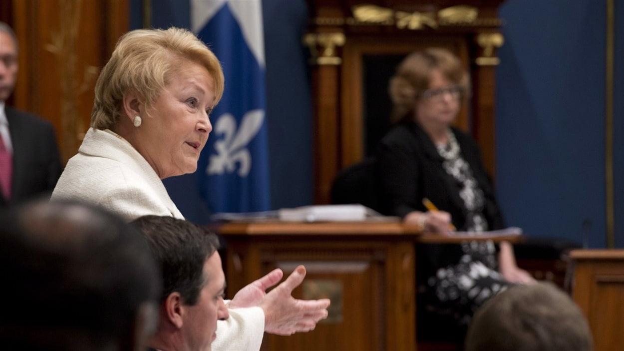 Pauline Marois à l'Assemblée nationale