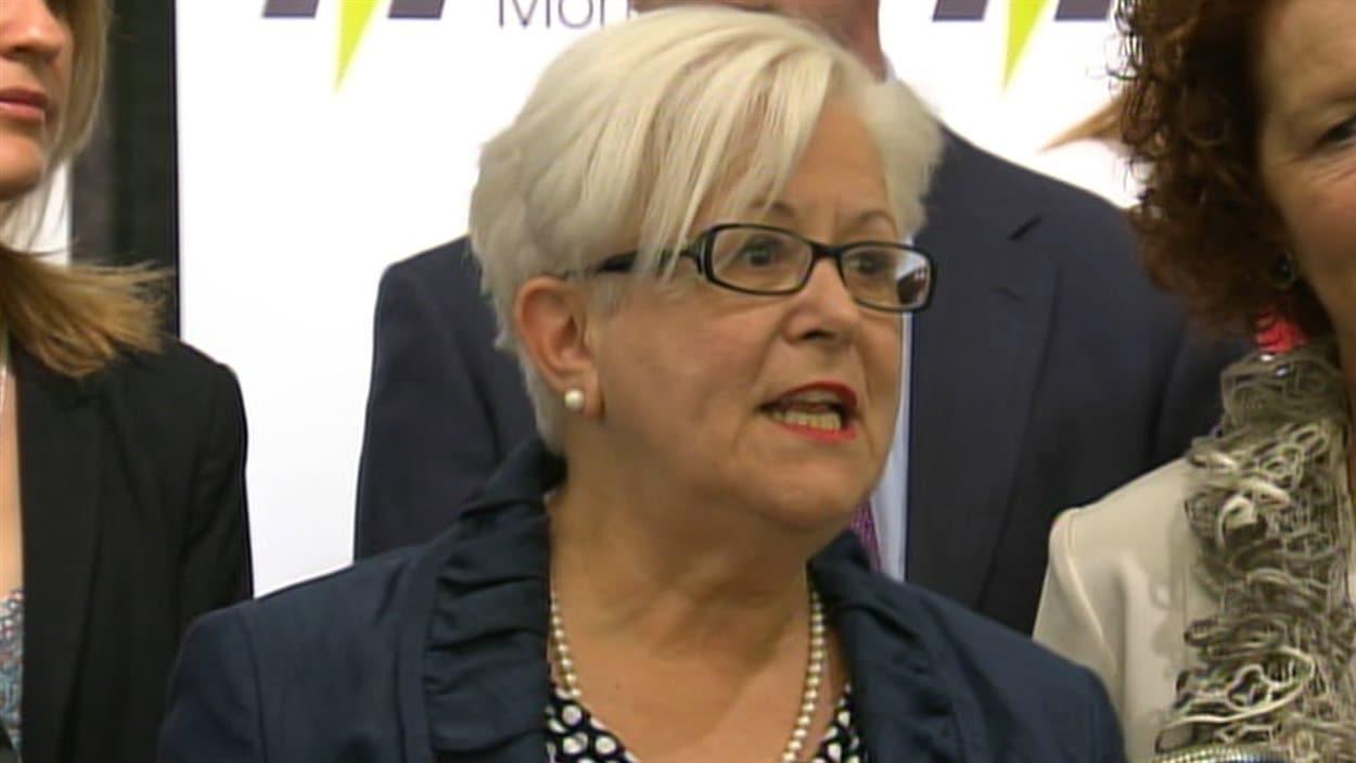 Louise Harel, chef du parti Vision Montréal