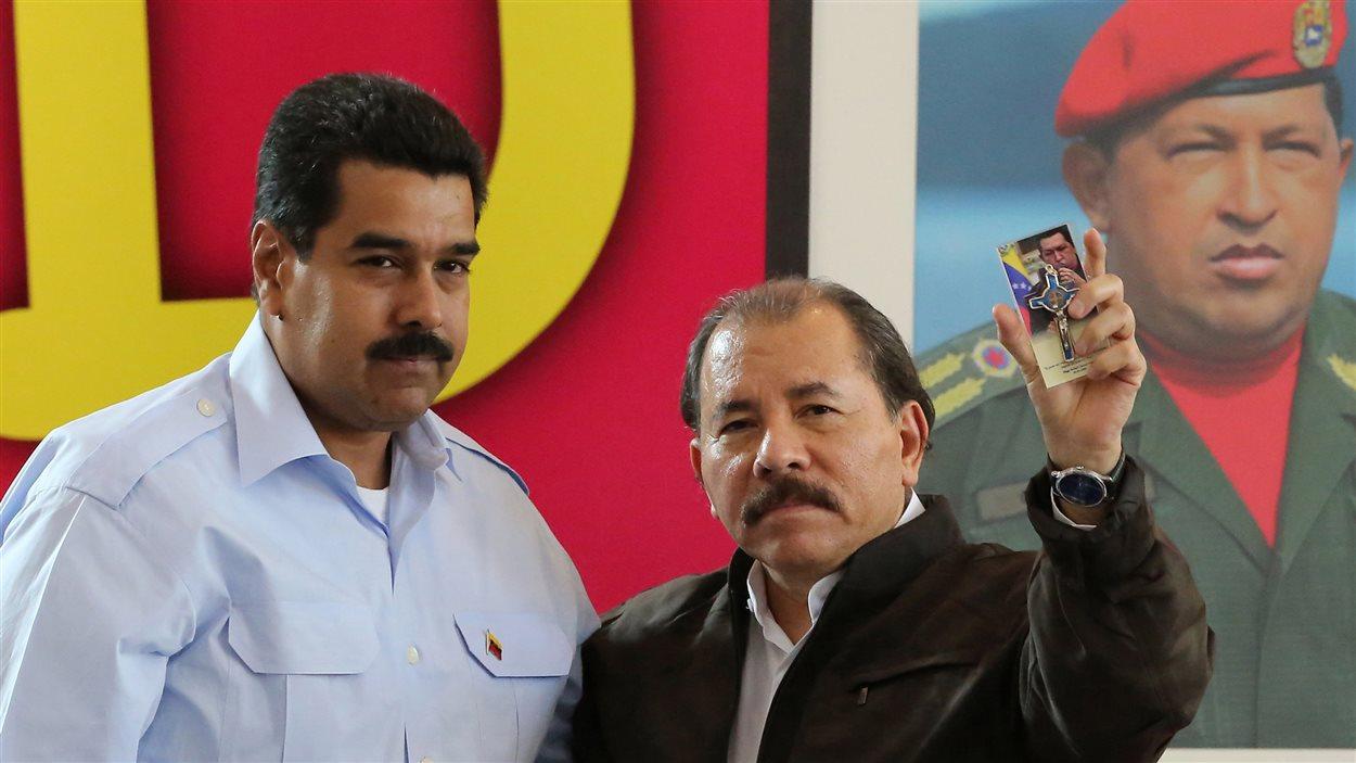 Les présidents du Venezuela, Nicolas Madura, et du Nicaragua, Daniel Ortega, le 29 juin dernier, lors d'une rencontre à Managua.