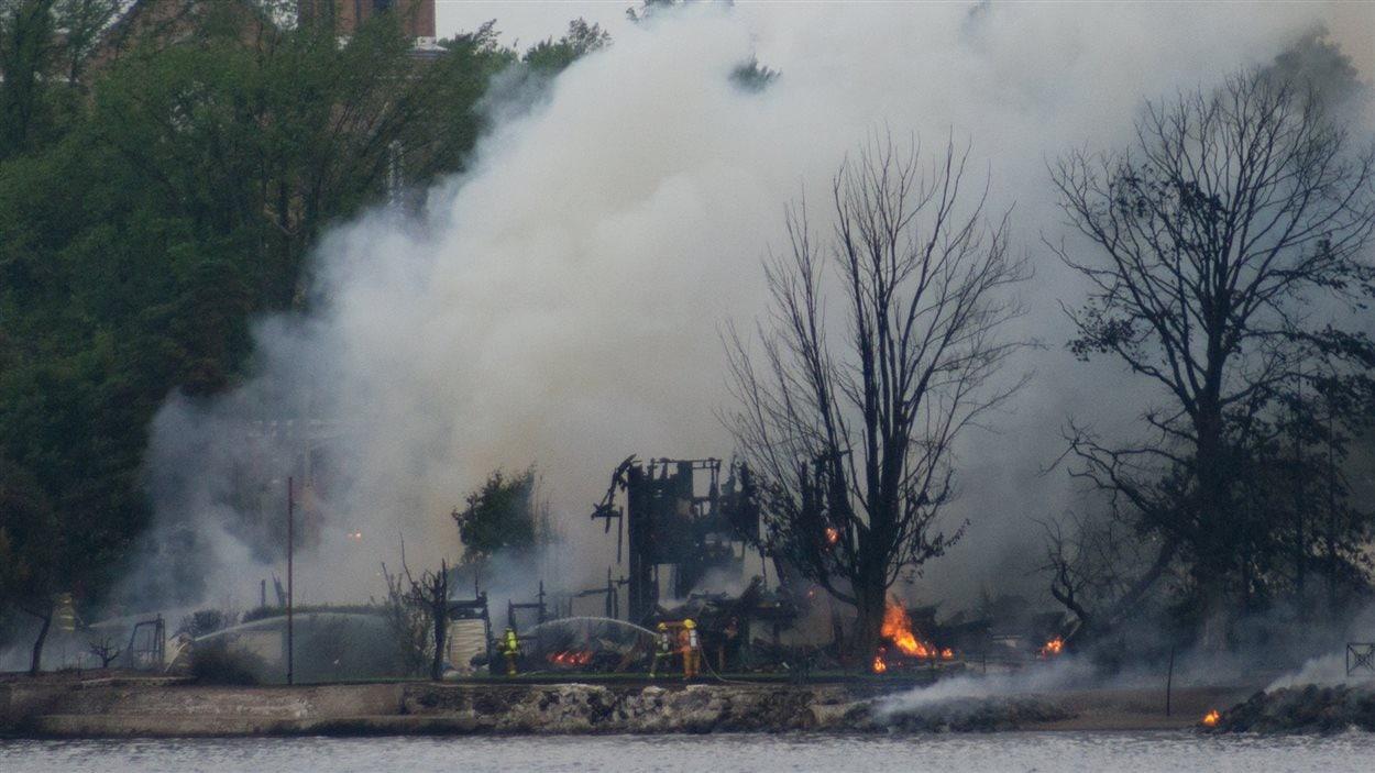 Incendie à Lac-Mégantic