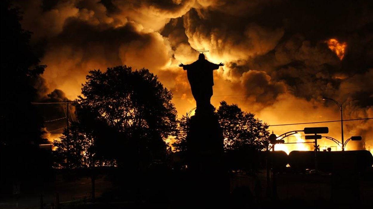 Une photo prise au coeur des explosions.