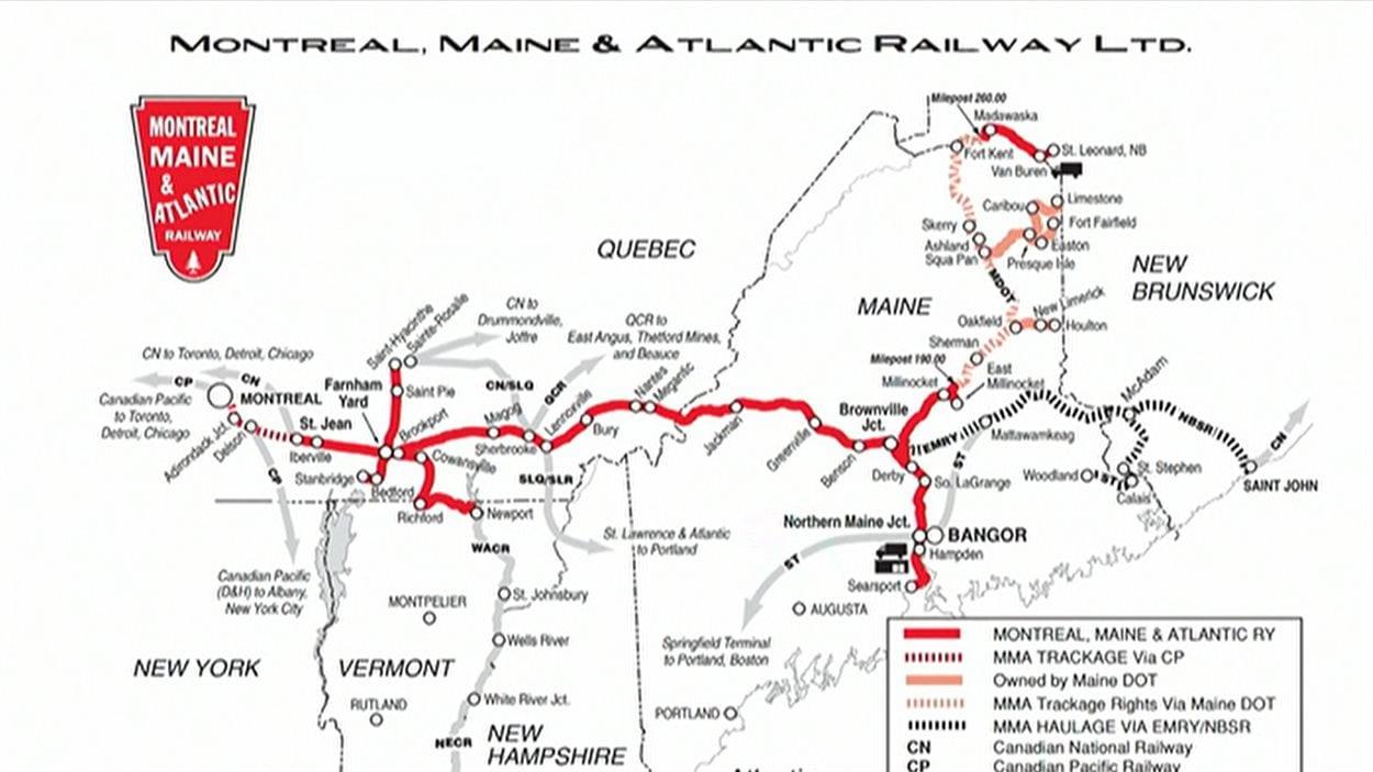 Le réseau de voies ferrées de la Montreal, Maine and Atlantic