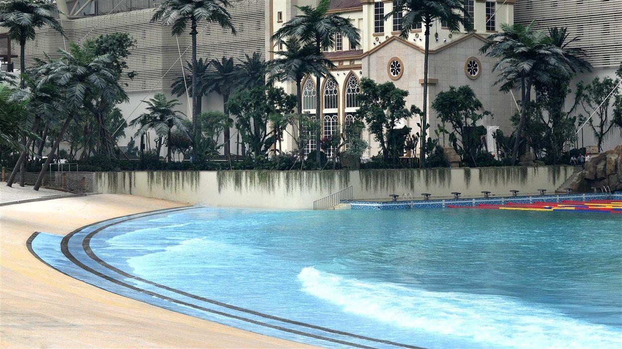 Le parc aquatique du New Century Global Center, à Chengdu, le 28 juin 2013