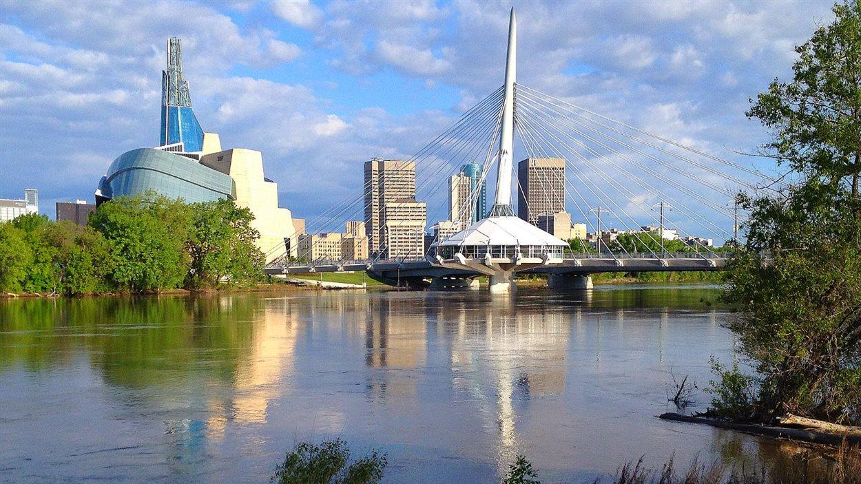 Vue de La Fourche, à Winnipeg, le 12 juillet 2013.