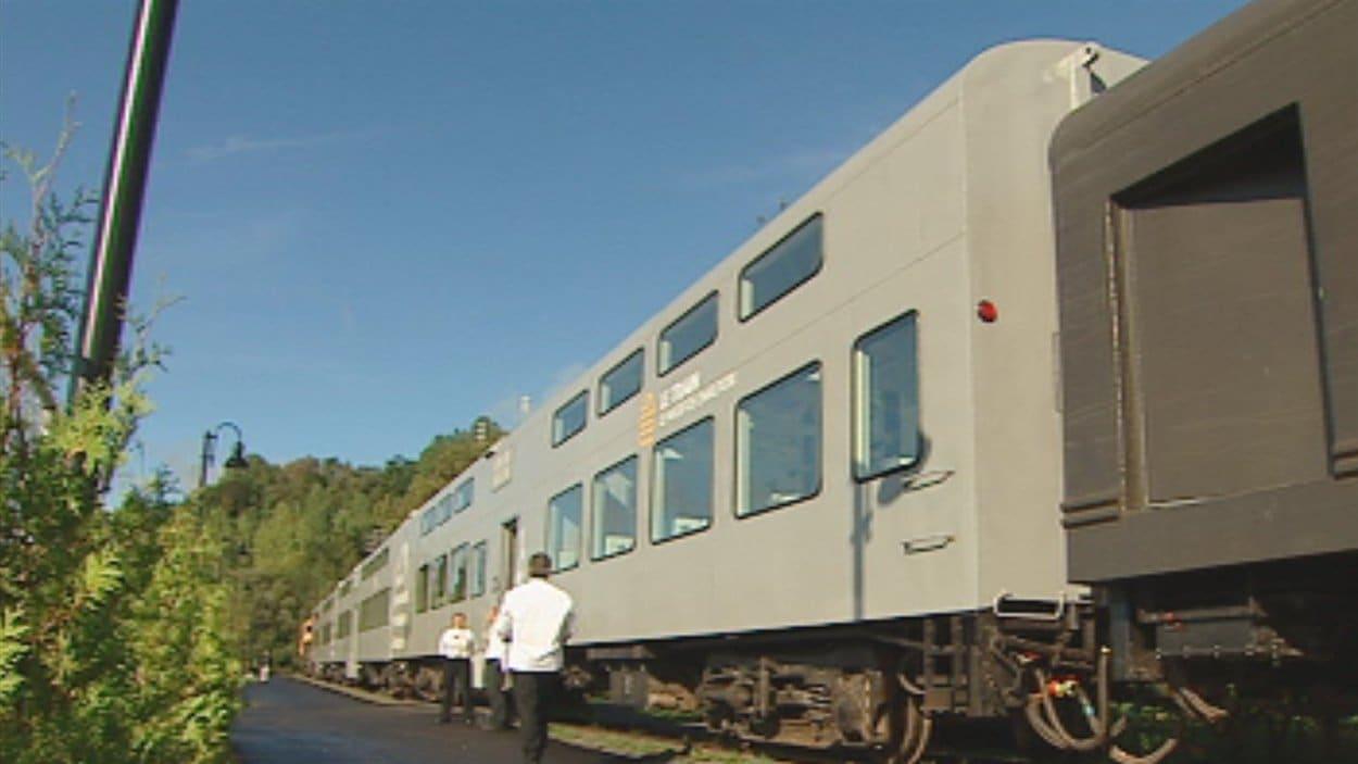 Les wagons du train Le massif de Charlevoix