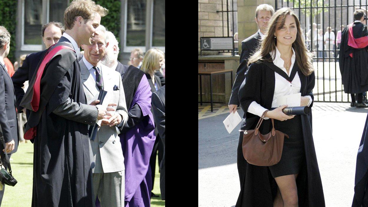 Kate Middleton et le prince William se sont rencontrés à l'université St. Andrews, la plus ancienne d'Écosse, où ils étudiaient en histoire de l'art. Ils ont obtenu tous deux leur diplôme 22 juin 2005.