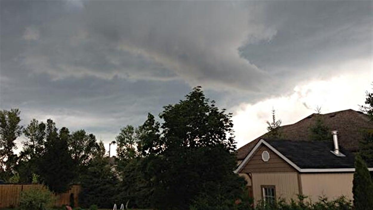 Le ciel était menaçant à Richmond.