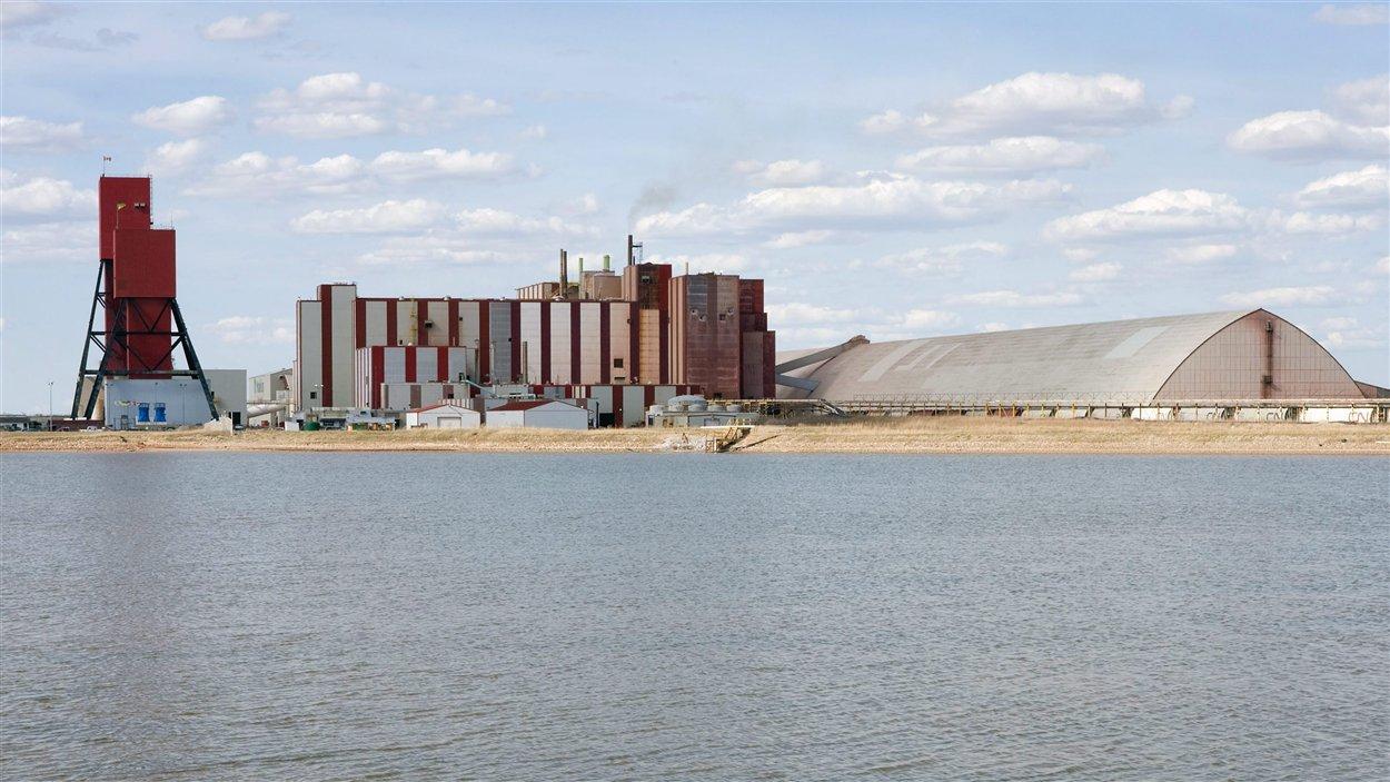 La mine de potash de Rocanville, en Saskatchewan, en 2007