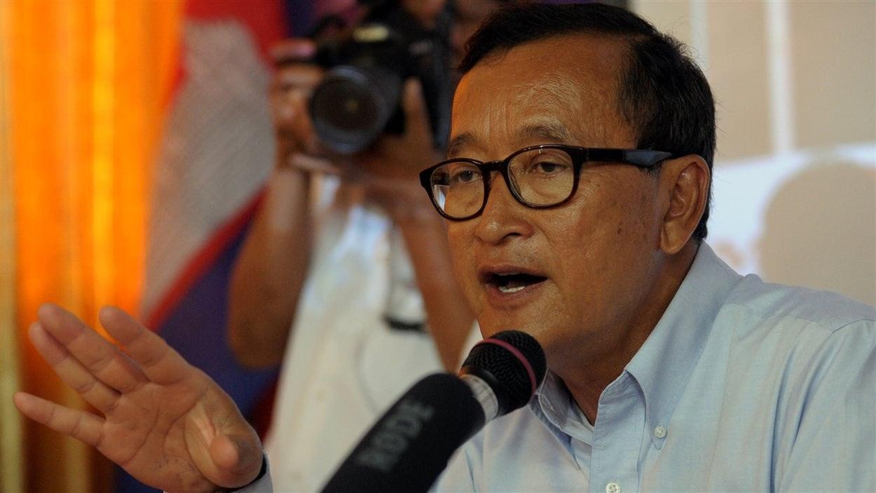 Le leader de l'opposition cambodgienne Sam Rainsy